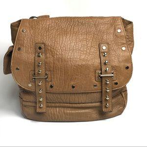 Rebecca Minkoff Logan Brown Satchel Crossbody Bag